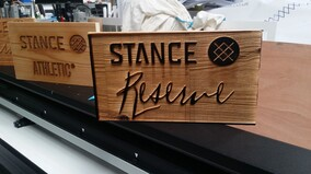 Laser Engraved Timber Signs