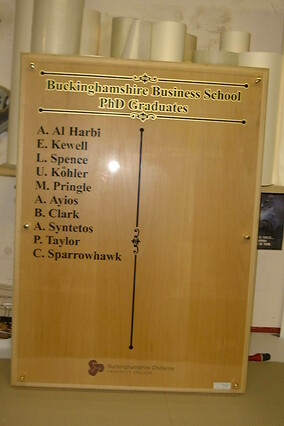 Wall Mounted Honours Board