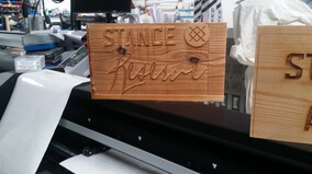 Laser Shaping & Engraving Of Timber Signs